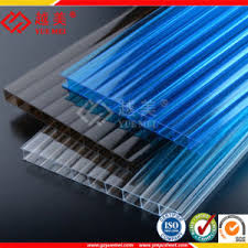 tettoia in plastica strato impresso ondulato vuoto solido pc policarbonato di