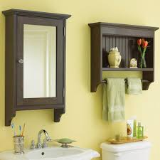 Bathroom Wall Cabinet With Towel Bar Placing Modern Bathroom Wall Cabinet Beside And Inside Mirror For
