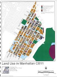 New York Zip Code Map Manhattan by East Harlem Land Use