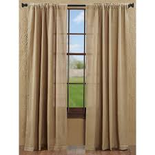 burlap natural tan prairie curtain country farmhouse style