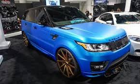 black and gold range rover 2015 sema show wildest rides autonxt