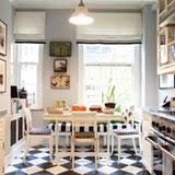 Black And White Kitchen Floor Tiles - designing around black u0026amp white checkerboard kitchen floors