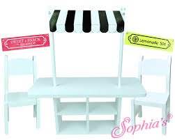 american doll table and chairs 18 inch doll concession table by sophia s girls and dolls gala of