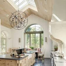 Chandelier Kitchen Inspiring Vaulted Ceiling Ideas In Interior Design U2013 Types Pros