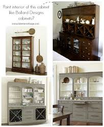 paint the interior of this cabinet like ballard designs cabinets