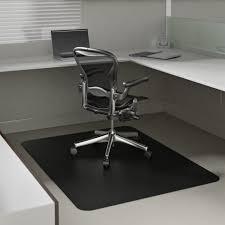 Black Leather Desk Mat Desk Floor Mat Ergonomic Office Chair Leather Office Chair Floor
