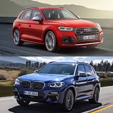 2017 bmw x3 vs 2018 photo comparison audi sq5 vs bmw x3 m40i