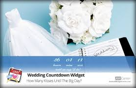 Wedding Countdown Wedding Countdown Widget How Many Kisses Until The Wedding Aw Center