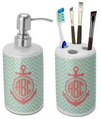 Anchor Bathroom Accessories by Aqua Chevron Bathroom Accessories Brightpulse Us