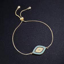 blue eye bracelet images New simple designer turkish gold evil eye bracelet pave cz blue jpg