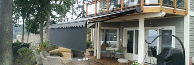 Roof Mounted Retractable Awning Seattle Motorized Retractable Awning W Drop Shade Installation