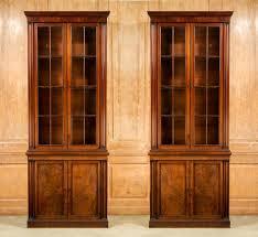 antique pair library bookcases summers davis antiques u0026 interiors