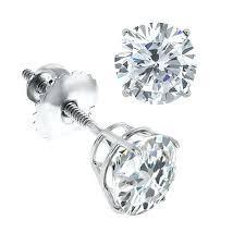 warren stud earrings white gold diamond earring 4k 50 kg white gold diamond earrings