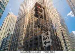 city of chicago red light settlement one way road sign under traffic stock photo 762860863 shutterstock