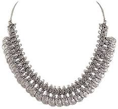 silver plated collar necklace images Oxidised silver jewellery necklaces buy oxidised silver jpeg