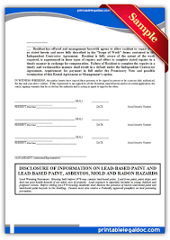 free standard rental agreement form