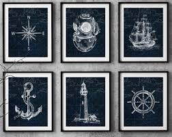 nautical and decor nautical print etsy