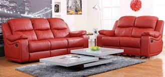 Black Leather Sofa Recliner Wonderful Red Leather Sofa Set With Red And Black Leather Sofa Set