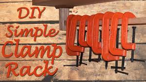 Wood Clamp Storage Rack Plans by Simple And Fast Clamp Rack Ep 004 Youtube