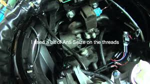 how to change the spark plugs on a ninja 650 youtube