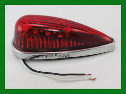 red led marker lights cab roof clearance marker teardrop red led lights ford chevy dodge