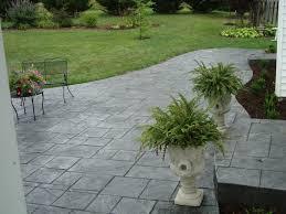 Lanai Paver Stamped Concrete Larger Tile Pattern In Pewter With