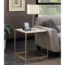 Convenience Concepts Gold Coast Faux Marble End Table Free