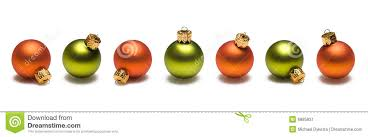 green and orange christmas balls border stock image image 6885831
