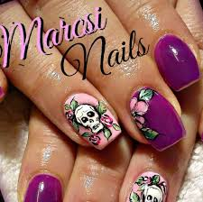 skull nail art designs perfect choices fashion in pix