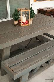 Plans For Patio Table by Best 25 Homemade Outdoor Furniture Ideas On Pinterest Outdoor