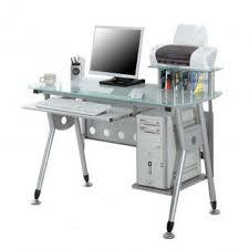 bureau avec tablette coulissante bureau informatique avec plateau en verre et tablette coulissante