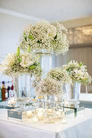 white floral arrangements impressive white wedding flower arrangements wedding decorations