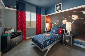 cosmos kids bedroom theme and navy blue room wall paint color