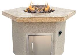Patio Table Height by Table Beautiful Hexagon Patio Table Cal Flame Stucco And Tile