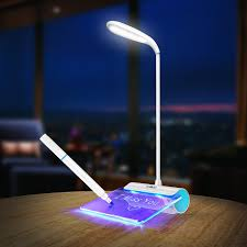 desk lamp walkas lamp with message board rechargeable led reading