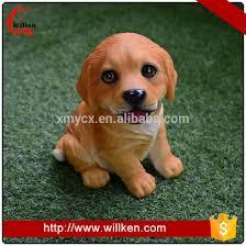 garden ornaments puppy golden retriever simulation animal