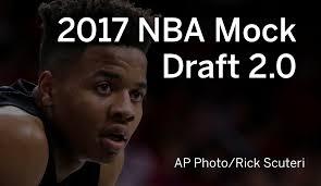 nba mock draft 2017 markelle fultz to boston celtics lonzo ball