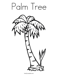 palm tree coloring twisty noodle