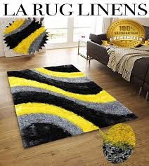 Furry Black Rug La Rug Linens Huge Blowout Sale 8x10 Light Yellow Dark Yellow