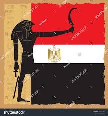 Eygpt Flag Egypt Flag On Symbolic Ancient Egypt Stock Vektorgrafik 437011549