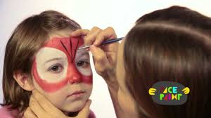 spiderman face painting tutorial