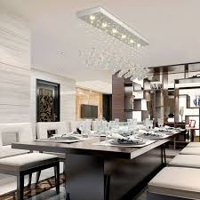 Wohnzimmer Bar Restaurant Moderne Restaurant Rechteckigen Kronleuchter K9 Kristall Lampe Led