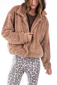 teddy er jacket camel reversible brown leopard ragdoll la