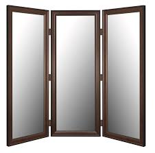 frosted glass room partition with dark brown wooden frames and