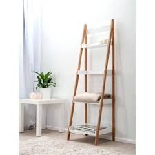 small ladder shelf canada bookcase stylish shelves chic simple