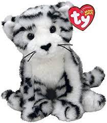 amazon ty tundra safari beanies white tiger cub toys u0026 games