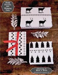 black and white christmas wrapping paper printable black white gift wrap craftbnb