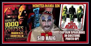 captain spaulding costume mania offering sid haig in captain spaulding costume photo ops