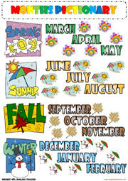 months esl printable worksheets and exercises