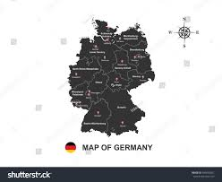 Germany Map Outline by Black Map Germany Outline On White Stock Vector 549090301